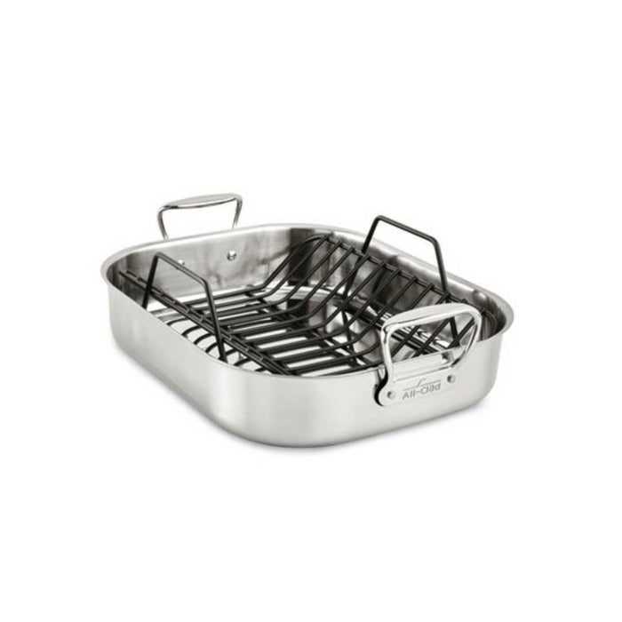 All-Clad Roasting Pan Large Roti Stainless Steel  16 x 13 Inch - Image 1
