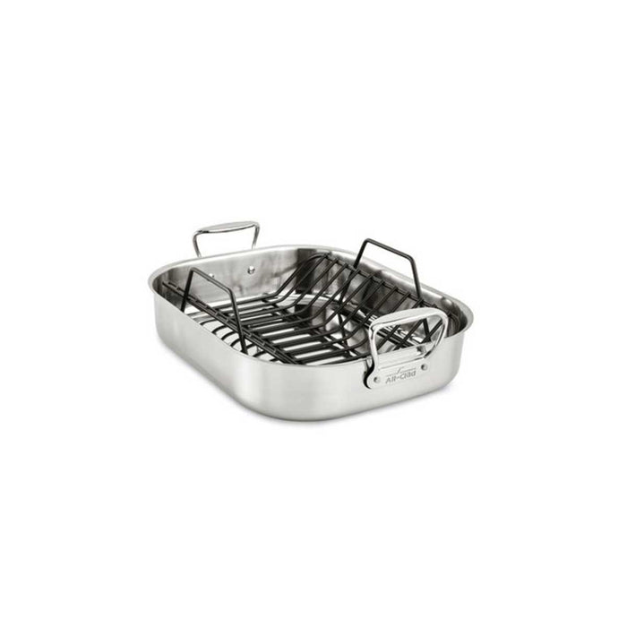 All-Clad Roasting Pan Large Roti Stainless Steel  16 x 13 Inch - Image 2