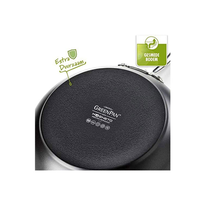 GreenPan Barcelona Ceramic Shallow Casserole with Glass Lid Non-Stick 30cm - Image 3