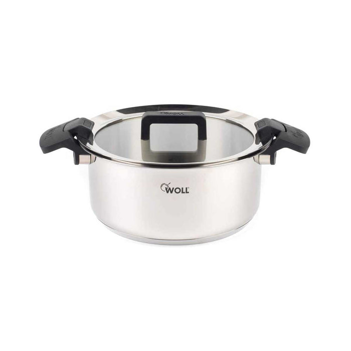Woll Casserole Pot with Glass Lid 24 cm Stainless Steel - Image 1