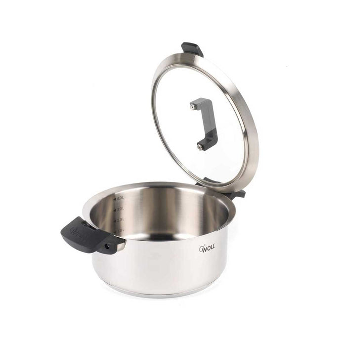 Woll Casserole Pot with Glass Lid 24 cm Stainless Steel - Image 3