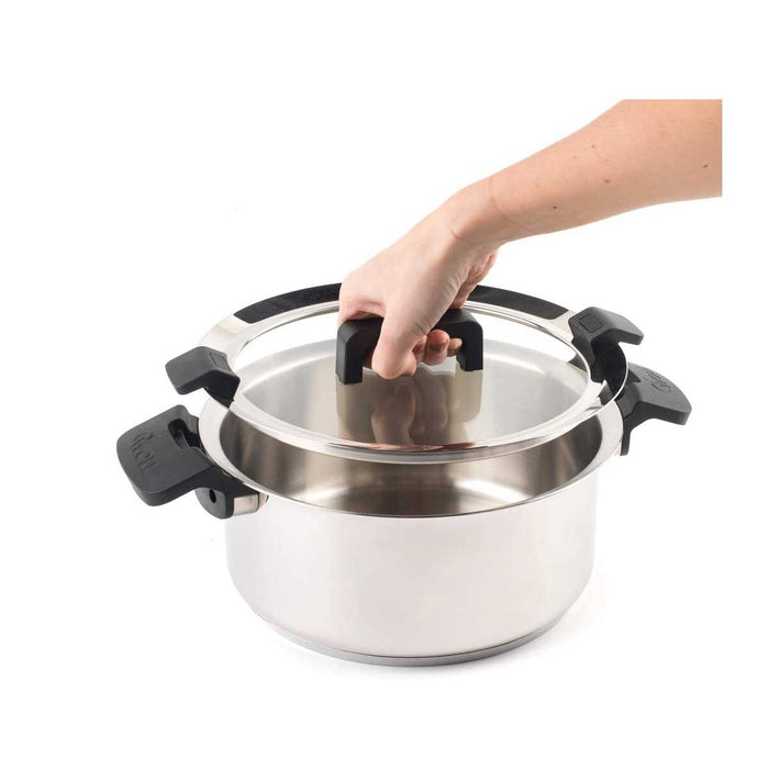 Woll Casserole Pot with Glass Lid 24 cm Stainless Steel - Image 4