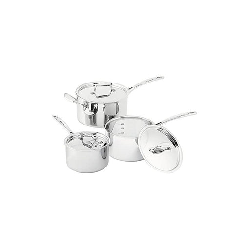 Scanpan Fusion 5 Saucepan Set 3 Piece Stainless Steel With Lids - Image 1