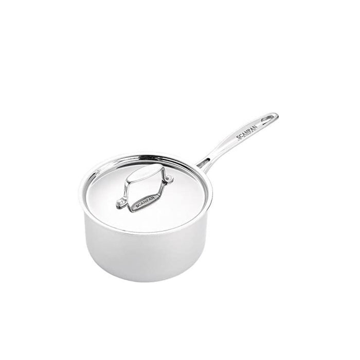 Scanpan Fusion 5 Saucepan Set 3 Piece Stainless Steel With Lids - Image 3