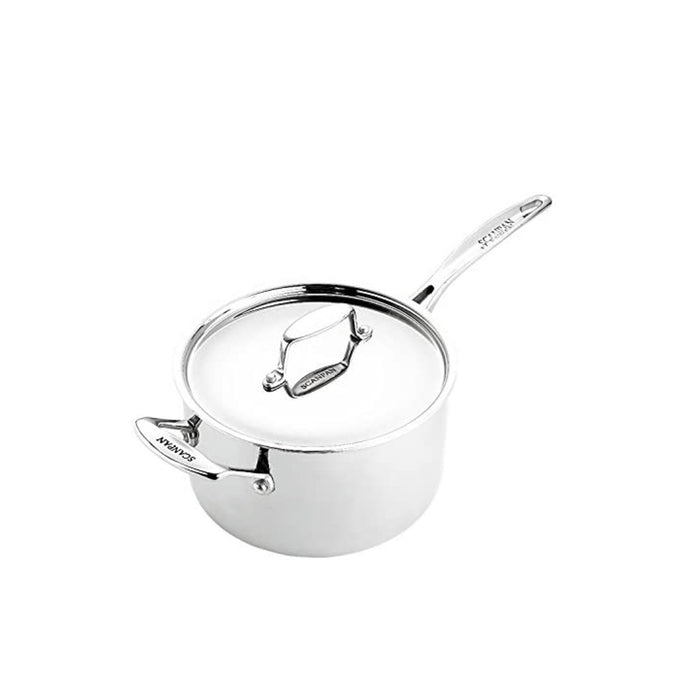 Scanpan Fusion 5 Saucepan Set 3 Piece Stainless Steel With Lids - Image 4
