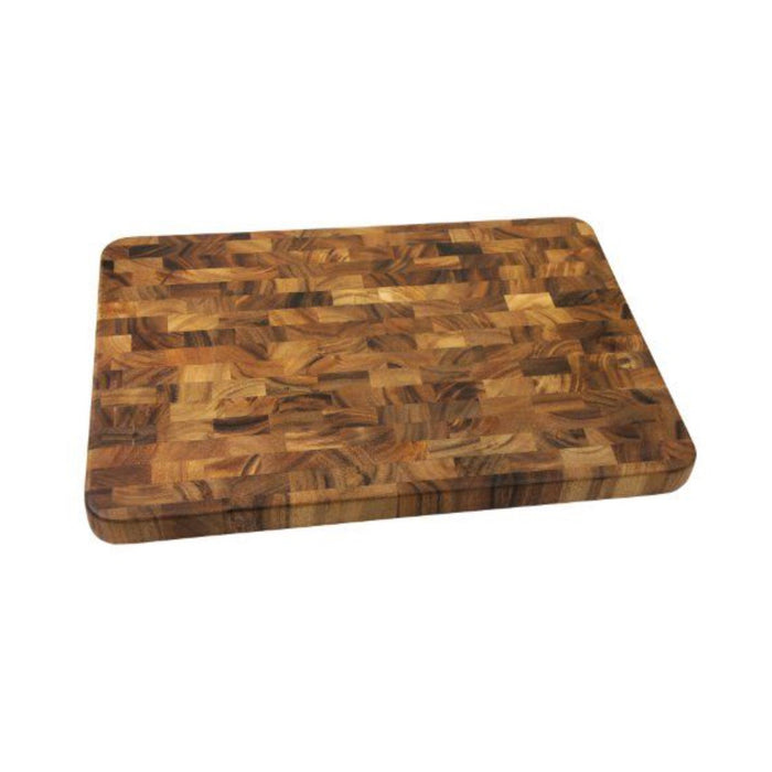 "Ironwood Gourmet Board Acacia Wood Large Grain End Prep Station 14 x 20"" - Image 1"
