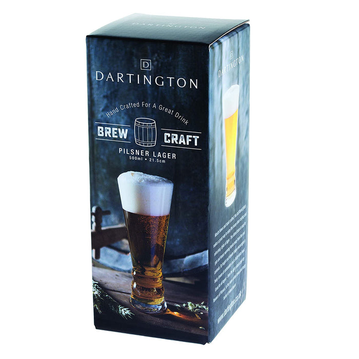 Dartington Crystal Brew Craft Pilsner Lager Single Glass 500 ml Clear - Image 2