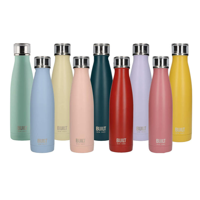 BUILT Perfect Seal Double-Walled Insulated Stainless Steel Drinks Bottle 480 ml - Image 1