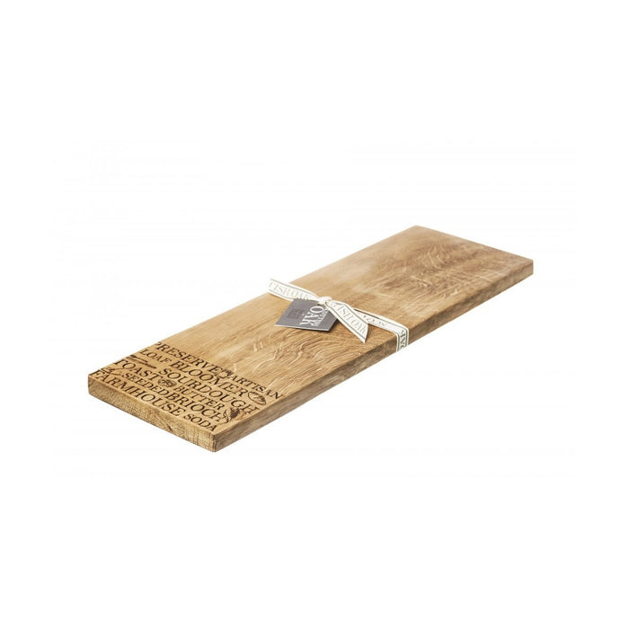 Scottish Oak Serving Platter Bread Oak Medium Serving Board 15 x 2 x 45 cm - Image 1