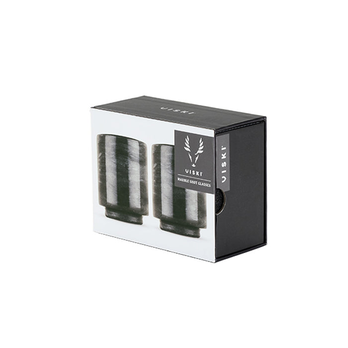 Viski Warren Marble Shot Glasses KT0112400 Set of 2 Black - Image 2