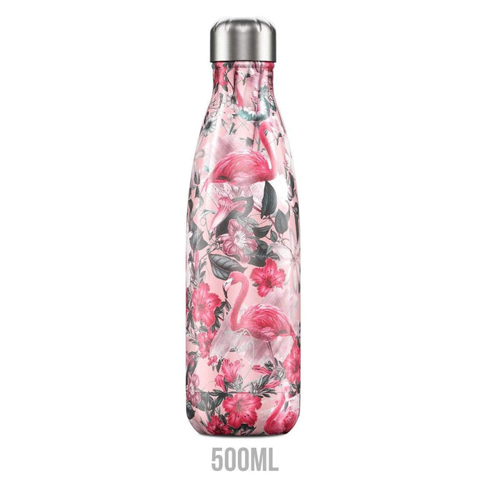 Chilly's Bottles Double Walled Vacuum Bottle - Flamingo 500ml - Image 1