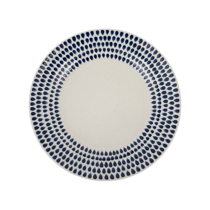 Nkuku Drop Side Plate 22.5cm Indigo Handmade Handpainted Dishwasher Safe - Image 1