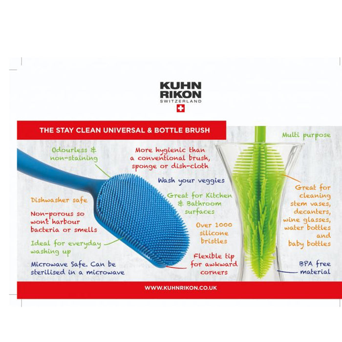 Kuhn Rikon Universal Brush Stay Clean Silicone Blue - Image 2