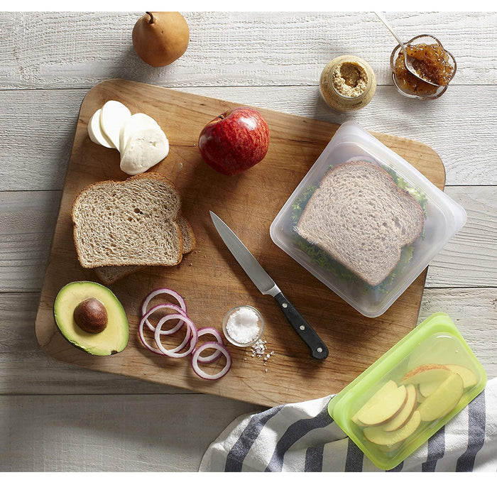 Stasher Re-Usable Sandwich Bag Food-Grade Platinum Silicone Organising/Travelling - Image 2