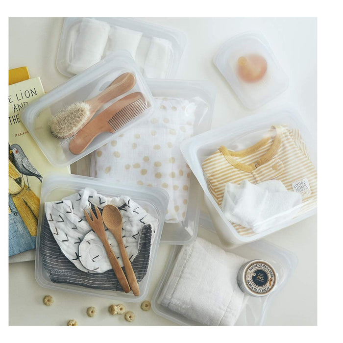Stasher Re-Usable Sandwich Bag Food-Grade Platinum Silicone Organising/Travelling - Image 4