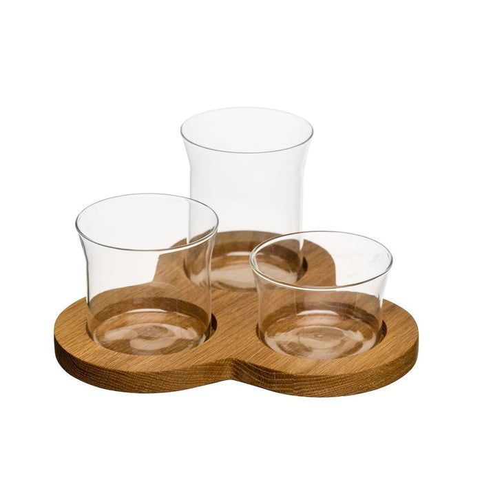 Sagaform Oval Oak Serving Set 4 pcs 21x21x11 cm - Image 1