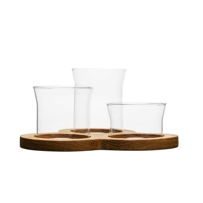 Sagaform Oval Oak Serving Set 4 pcs 21x21x11 cm - Image 2