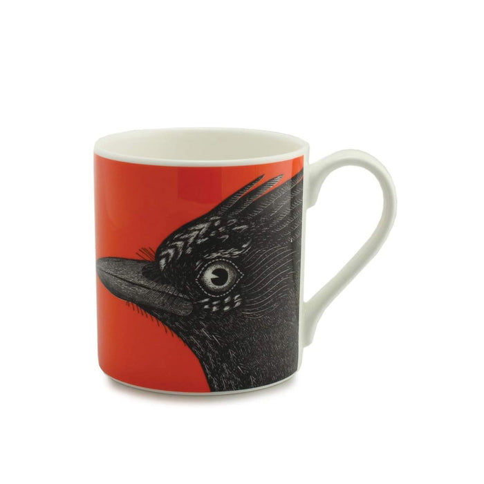 Alice Scott Jay Mug  Fine Bone China 350 ml Black Red - Image 1