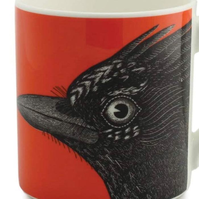 Alice Scott Jay Mug  Fine Bone China 350 ml Black Red - Image 2