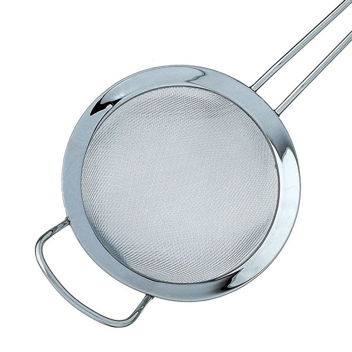 Fine Double Mesh Strainer Polished Rim and Handle 18/10 Stainless Steel 22 cm - Image 2