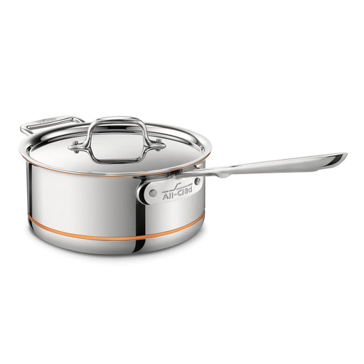 All-Clad Copper Core Saucepan 2 Handle with Lid 22cm 2.8L Induction Compatible - Image 1