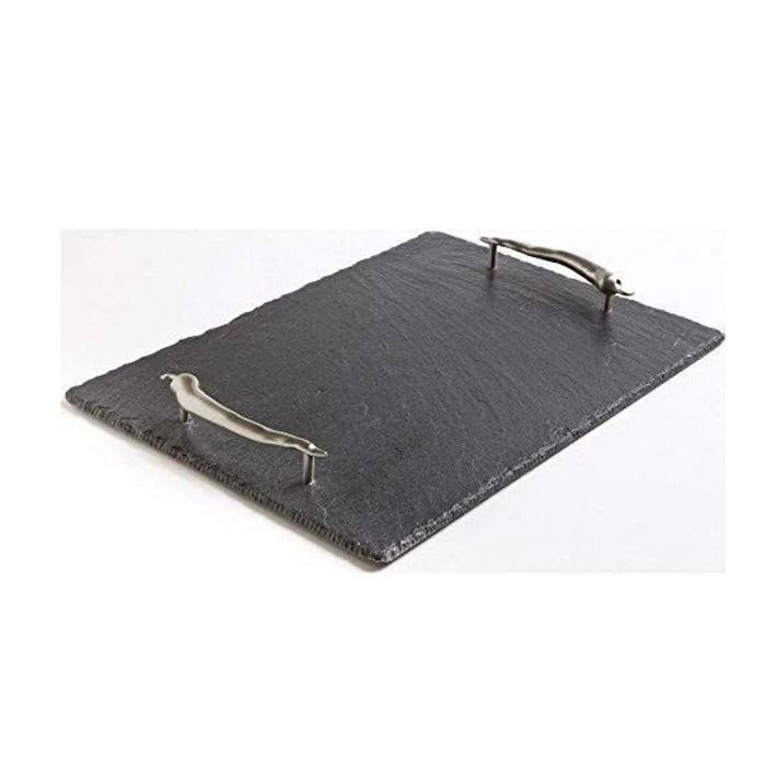 The Just Slate Company Medium Serving Tray with Chilli Handles - Image 1
