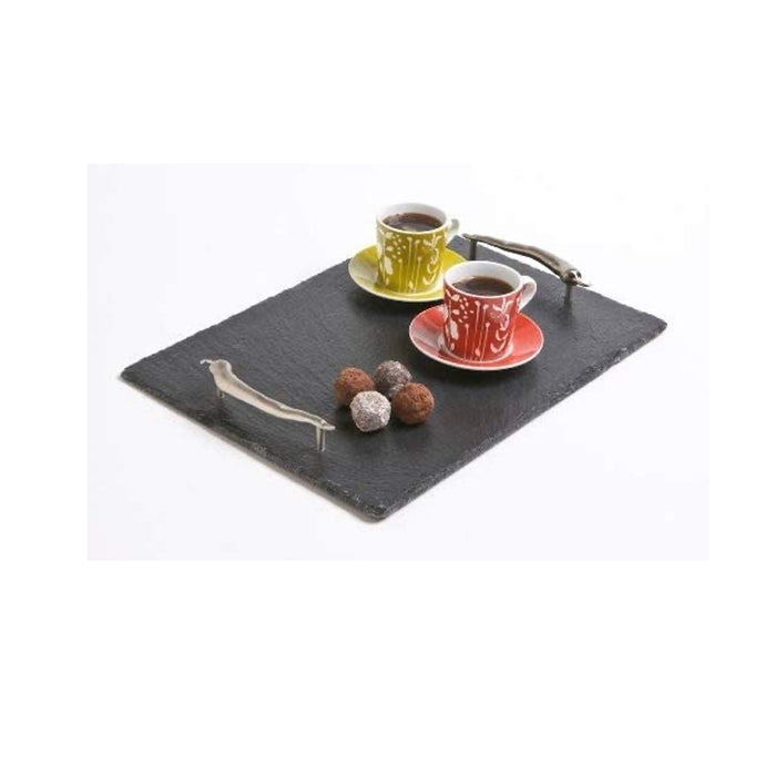 The Just Slate Company Medium Serving Tray with Chilli Handles - Image 2