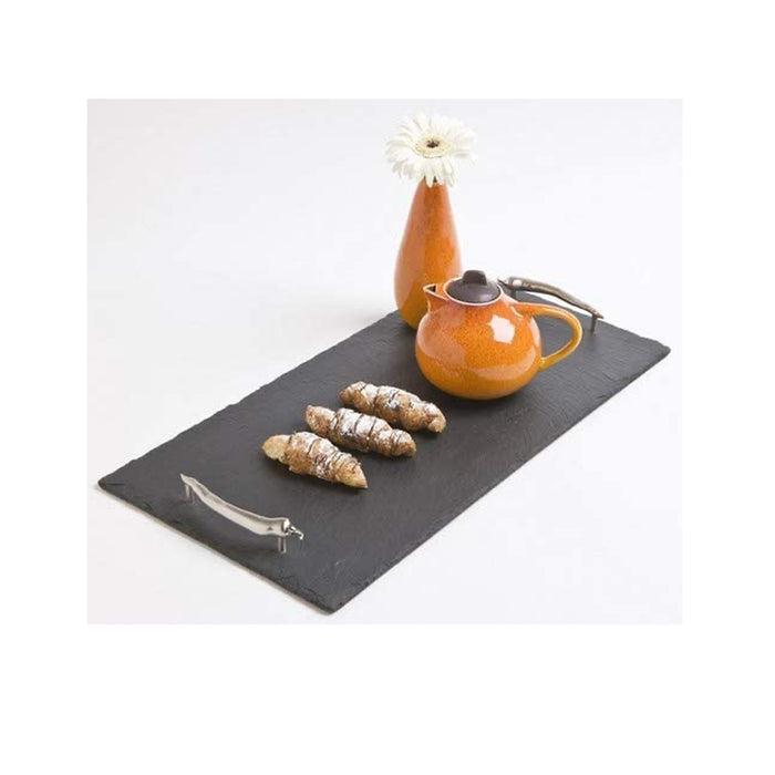 The Just Slate Company Medium Serving Tray with Chilli Handles - Image 3