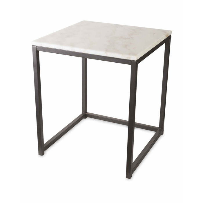 Kirkton House Nest of 2 Tables Real Marble Top Modern Space Saving Side Tables - Image 3