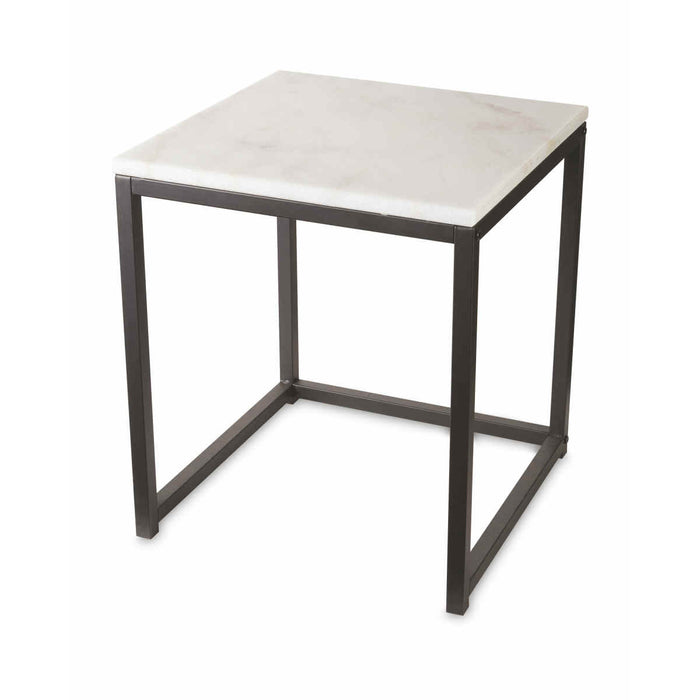 Kirkton House Nest of 2 Tables Real Marble Top Modern Space Saving Side Tables - Image 4