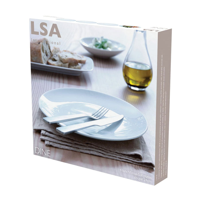 LSA International DI23 Dine Lunch/Breakfast Plate Coupe Ø24cm x 4 - Image 2