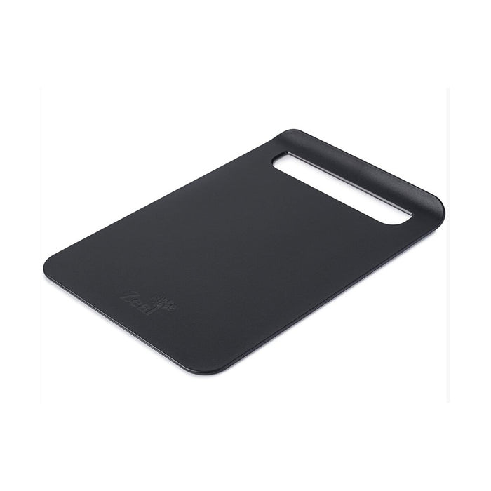 Zeal Straight to Pan Slim Kitchen Chopping Board Black 33.5 x 22.5 x 2 cm - Image 1