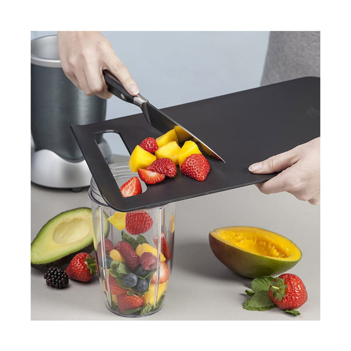 Zeal Straight to Pan Slim Kitchen Chopping Board Black 33.5 x 22.5 x 2 cm - Image 4