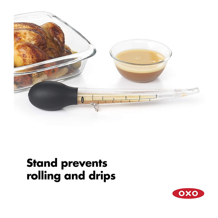 OXO Good Grips Angled Baster with Cleaning Brush - Image 4