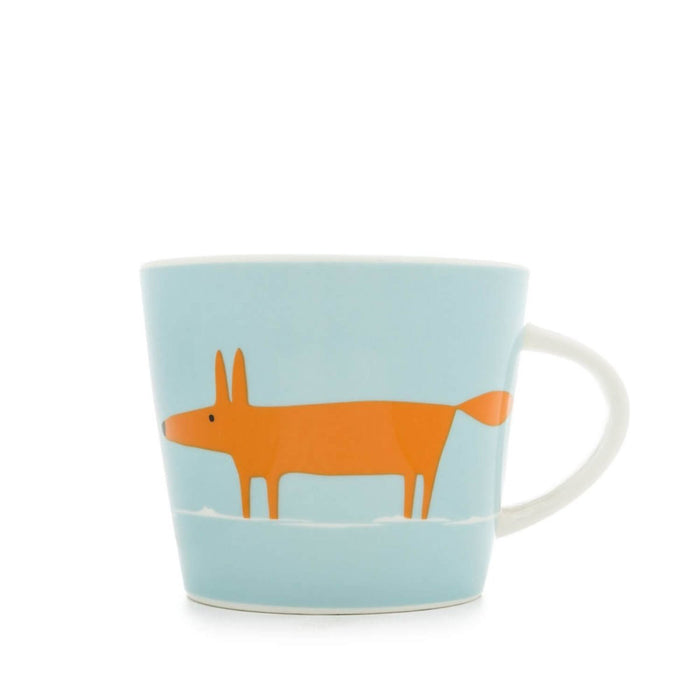Scion Living Mug Mr Fox 350ml Porcelain Orange and Duckegg Dishwasher Safe - Image 1