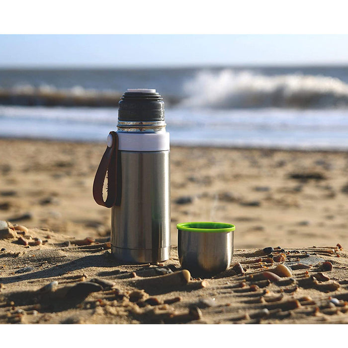 Black+Blum Thermo Vacuum Trave Flask Hot For 8 Hours Cold For 24 Hours Steel/Lime - Image 4