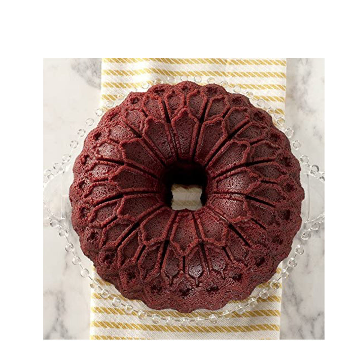 Nordic Ware Stained Glass Bundt Pan Metallic - Image 2