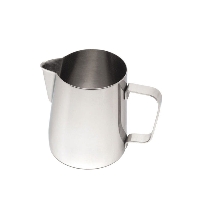Genware Conical Jug Stainless Steel 0.9 Litre 12 oz. Open top Dishwasher safe - Image 1