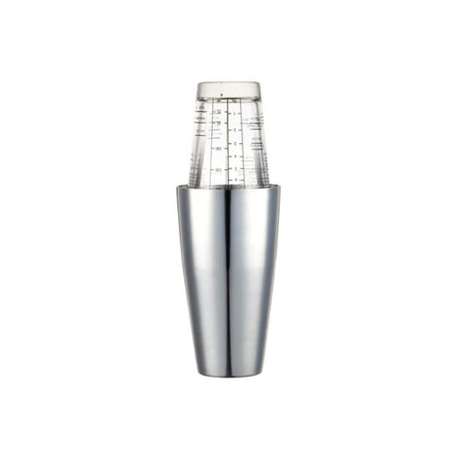 BarCraft Boston Cocktail Shaker Set with Printed Recipes Stainless Steel 400 ml - Image 1