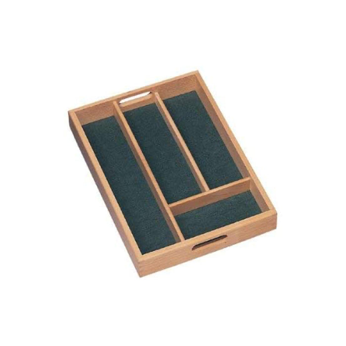 T&G Woodware Cutlery Tray Smaller Size with Green Lining  34.2 x 24.2cm - Image 2