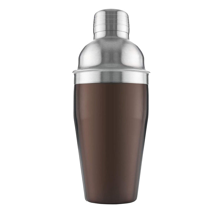 Vacu Vin Cocktail-Shaker Stainless Steel Brown/Silver 8.8x8.8x21.6 cm - Image 1