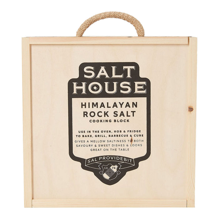 Salthouse Salt Block with Presentation Box Square Himalayan - Image 1