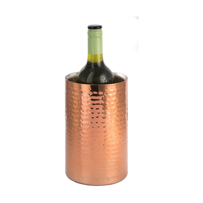 Straight Sided Copper Wine Cooler Serving Stand 12cm - Image 1