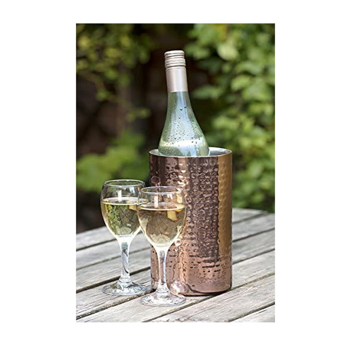 Straight Sided Copper Wine Cooler Serving Stand 12cm - Image 2