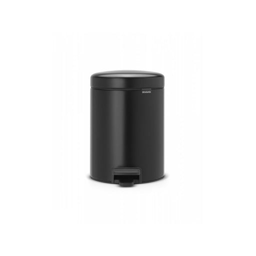Brabantia NewIcon 112928 Pedal Waste Bin 5 Litre Matt Black Finish - Image 1