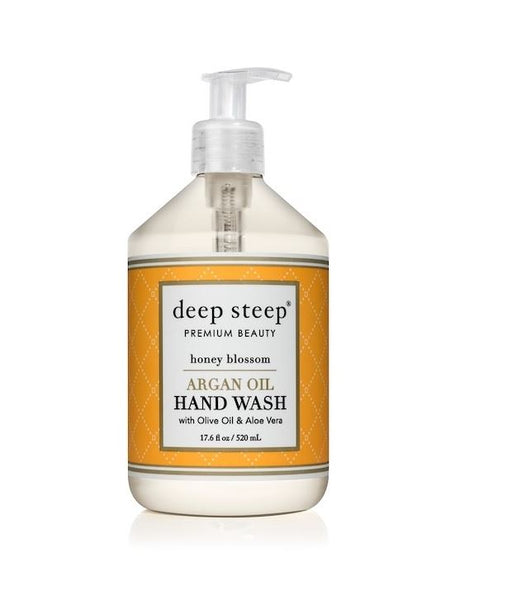 Deep Steep Argan Oil Hand Wash Honey Blossom 520ml - Image 1