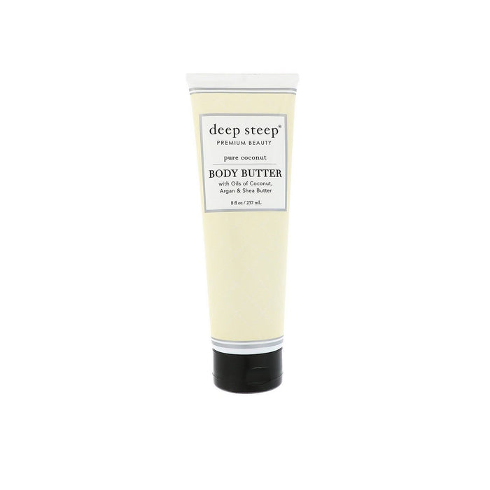 Deep Steep Body Butter Premium Beauty Pure Coconut 8 fl. oz 237ml - Image 1
