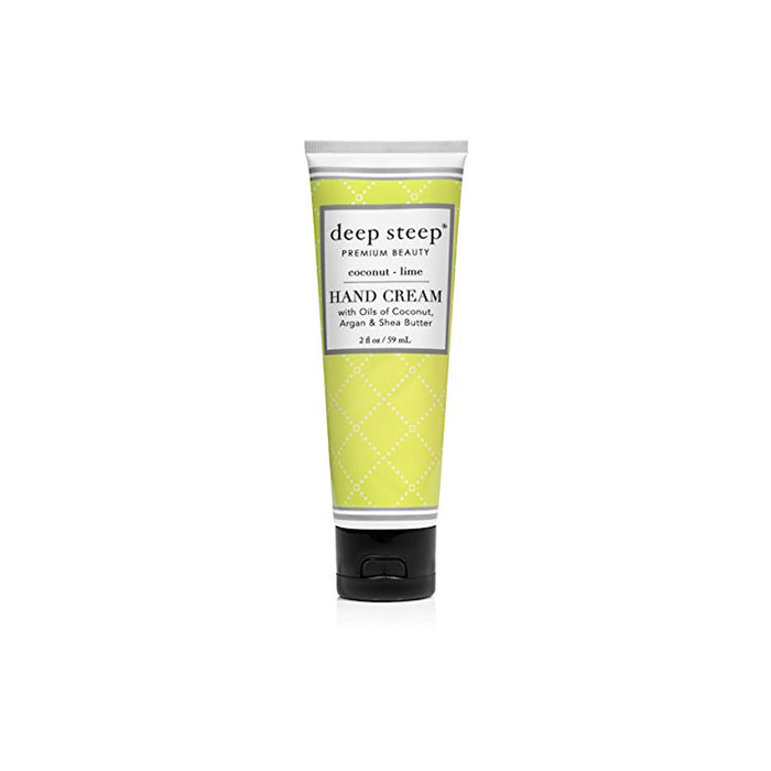 Deep Steep Hand Cream Coconut Lime 2 fl oz 59ml Natural Vegan Cruelty Free - Image 1