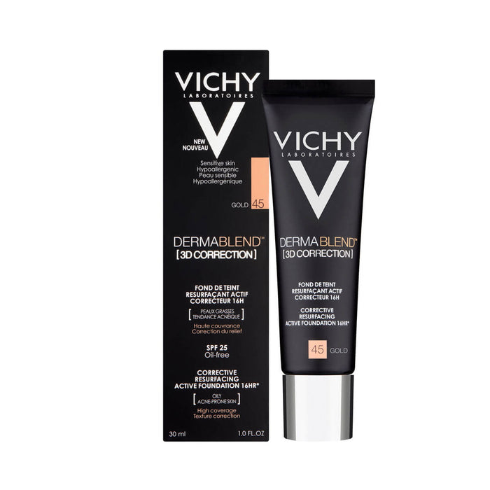 Vichy Dermablend 3D Corrective Resurfacing Foundation Gold 45 30ml - Image 2
