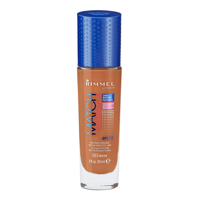 Rimmel Match Perfection Foundation + Concealer in Mocha - Image 1